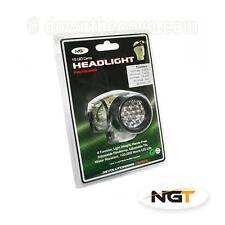 NGT 19 LED Proiettore mimetico per pesca notturna, torcia da testa Bike-Free 1st classe!