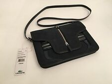 NEW Lacoste Cow Suede Leather Small Bag MSRP $350
