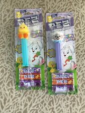 Lot Of Two New Pez Easter Candy And Dispenser Lamb And Chick