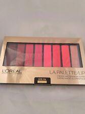 1 Palette LOREAL LA PALETTE LIP CREAM, MATTE & HIGHLIGHTER RED 04 Sealed
