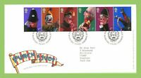 G.B. 2001 Punch & Judy set on Royal Mail First Day Cover, Tallents House