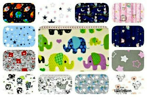 """FABRIC 100% COTTON Designs Girls/Boys Material By The Metre 63""""(160CM)"""