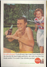 Coca Cola Advertisement - Vintage 1960 Coke Soda Pop Bottle Swim Trunks Print Ad