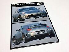 2004 Strosek Nissan 350 Z Information Sheet Brochure - German