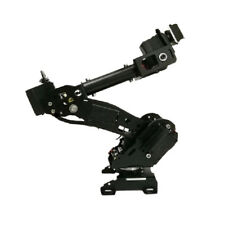 Metal Smart 8 Dof Robotic Robot Mechanical Arm Kit Diy Black