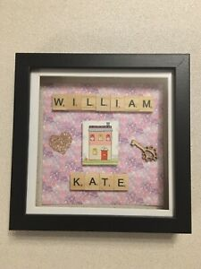 personalised scrabble frame 18x18cm Black- NEW HOME