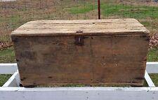 Old Primitive Wood Chest Wagon Box Trunk Home Furniture Rustic Farmhouse Decor