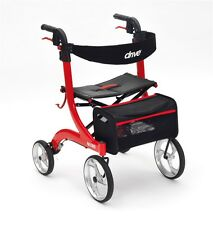 Drive Medical Rtl10266 NITRO Wheel Lightweight Rollator in Red