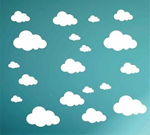 Cloud Wall Decals, Nursery Stickers // 23 Playroom Transfers // Sky Themed Room