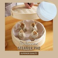 Silicone Steamer Pad Non-Stick Silicone Mat Steamer Pad Sum Paper Cooking Tools