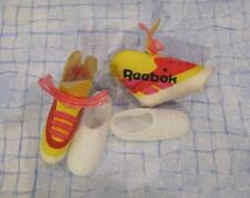 Barbie Doll All-American Reebok Tennis Shoes/ Yellow Covers/ AA CHRISTIE TERESA