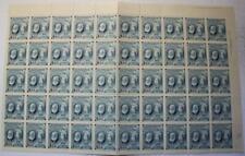 Canada #274, MNH OG Sheet Of 50, Folded & Will Ship Folded, Bell, U.R. Plate #1