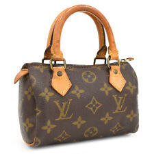 Auth LOUIS VUITTON Monogram Mini Speedy M41534 Hand Bag pouch Canvas CC0907