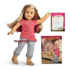 American Girl ISABELLE DOLL and BOOK with PIERCED EARS + 7pr EARRINGS  Fast Ship