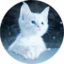Mauspad 21cm rund 3 mm dick - matt - Nacht Katze