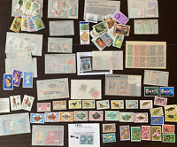 MINT BRITISH COLONIES WORLDWIDE STAMPS LOT GLASSINES. NO UNITED STATES