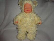 """SWEET ANNE GEDDES 16"""" SOFT BODY CREAMY WHITE POLAR BEAR WOOLEY LAMB BABY DOLL"""