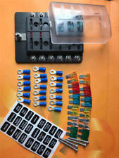 12Way LED Circuit Standard ATO/ATC Blade Fuse Box Block Holder For Auto Car Boat