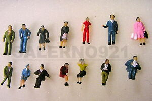 14 FIGURES (7 SEATING and 7 STANDING) (HO) 1:87 True Scale