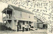 Postmaster, Owner & Others Pose by the Post Office & Store, Maplewood Ny 1907