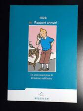Rapport Belgacom 1998 Tintin  ETAT NEUF
