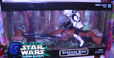 #8436 NRFB Hasbro Target Stores Star Wars Speeder Bike with Scout Trooper Figure