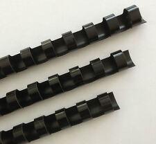 34 Plastic Binding Combs Black Set Of 25