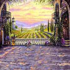 Castle 10'x10' background Computer-painted (CP) Scenic backdrop DT-11-219