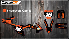 KTM SX50 SX65  Graphics Kit - Fluorescent Series / Fluoro / Fleuro / Neon Orange