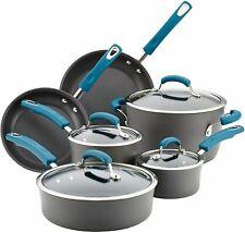 Rachael Ray Anodized Aluminum Nonstick Pots & Pans Cookware Set - 10 Pieces
