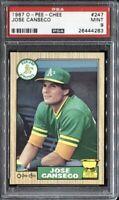 Jose Canseco 1987 O-Pee-Chee Baseball # 247 PSA 9 Mint