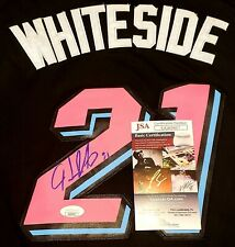 Hassan Whiteside Signed Miami Vice Black Jersey Size 52 In Person JSA CERTIFIED