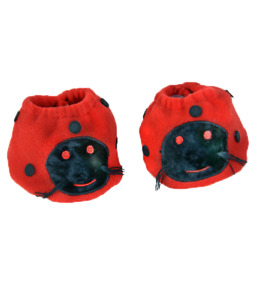 """Red Ladybird Slippers Shoes Fits 16"""" Build a Bear Teddy Mountain clothes outfits"""