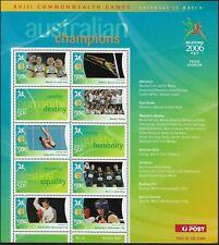 2006 Australian Decimals Melbourne Commonwealth Games MNH Champions Sheetlet #14
