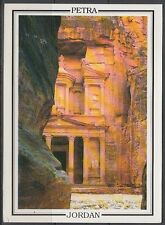 Jordanien Jordan used Post Card Postkarte Bauwerk building Petra [cm582]