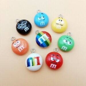 20Pcs Mix Chocolate Beans Resin Charms Cute Pendant Earring DIY Fashion Jewelry