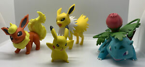 Pokemon Tomy Figures Lot Of 4 Jolteon Ivysaur Flareon and Pickachu 2015-2017