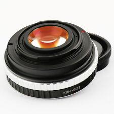 Focal Reductor velocidad Booster Canon EOS EF Lente Adaptador Sony NEX apertura A6300