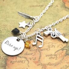 Rise Up Alexander the Musical Inspired Lyrics Charm Necklace, crystals, charms