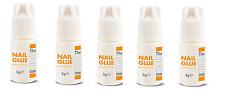 5 x THE EDGE NAIL GLUE 3g gram tips super strong false adhesive