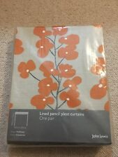 John Lewis Wallflower Lined Curtains, Clementine  - 165 X 182 Cm