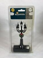 Santa's Workshop Lighted Street Lamp with Christmas Wreath Battery Operated NIB