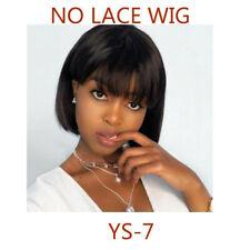 Straight No Lace Wig Brazilian Virign Bob Wig 100% Human Hair Natural Black hair