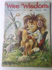 Vintage 1966 WEE WISDOM Magazine Boys Girls Stories Poems Songs Christian
