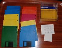 Lot of 13 Memorex 3.5 inch floppy disks in plastic case formatted for Windows