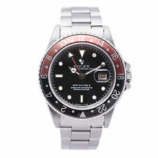 ROLEX GMT-MASTER II 16760 MENS AUTOMATIC WATCH FAT LADY STAINLESS STEEL 40MM