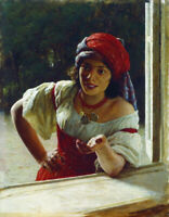 """high quality oil painting handpainted on canvas """"gypsy woman"""""""