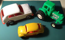Lot Of Vintage Plastic Cars And Ford Tractor