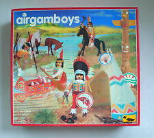 Airgam Airgamboys Poblado Indio Indian Village set 406 MIB