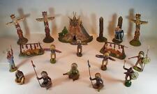 Elastolin Masse Figuren Wildwest Indianer Lager 3 mit Zelt Indianern etc #100